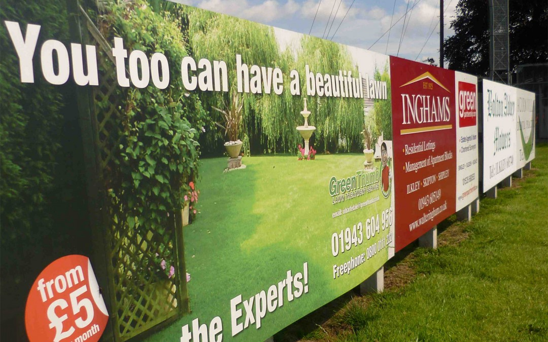 Sponsored Sports Ground Signs