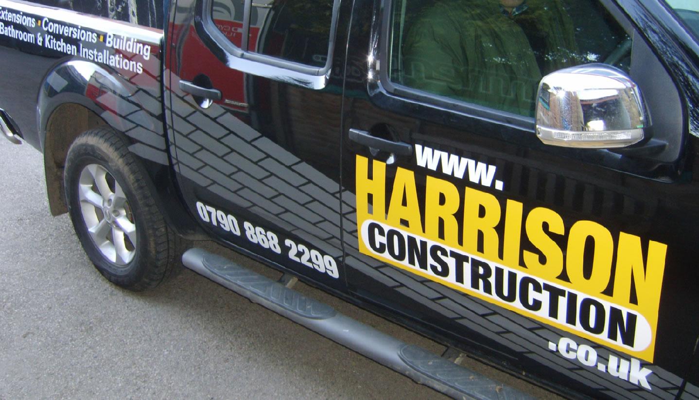 Harrison Construction vehicle artwork